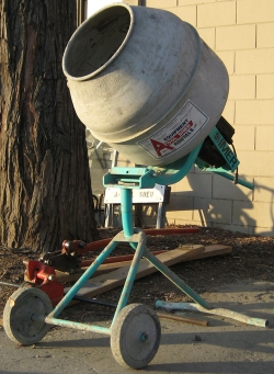 Used Equipment Sales 2 1 2  CU FT TRIPOD ELEC CONCRETE MIXER in Morgan Hill CA
