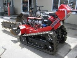 Used Equipment Sales WALK BEHIND TRACK TRENCHER, 36  DEPTH in Morgan Hill CA